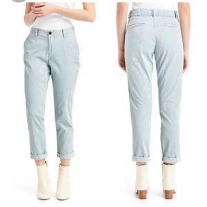 GAP girlfriend khaki pants bleached railroad
